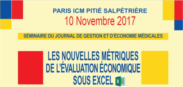 Séminaire JGEM : Les nouvelles métriques de l'évaluation économique sous Excel – 10 Novembre 2017