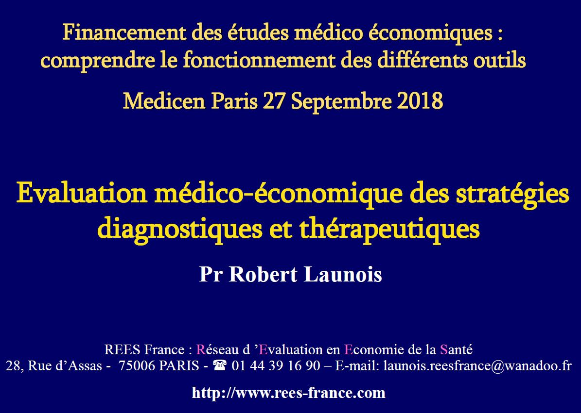 Évaluation médico-économique des stratégies diagnostiques et thérapeutiques