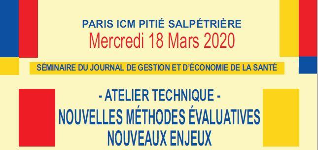Mercredi 18 mars 2020 : Atelier Technique : Nouvelles Méthodes évaluatives, nouveaux enjeux
