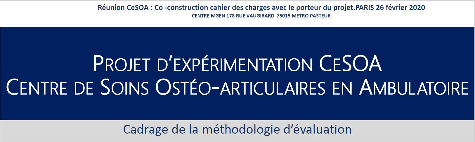 Evaluation de l'article 51 : méthodologie d'évaluation CeSOA