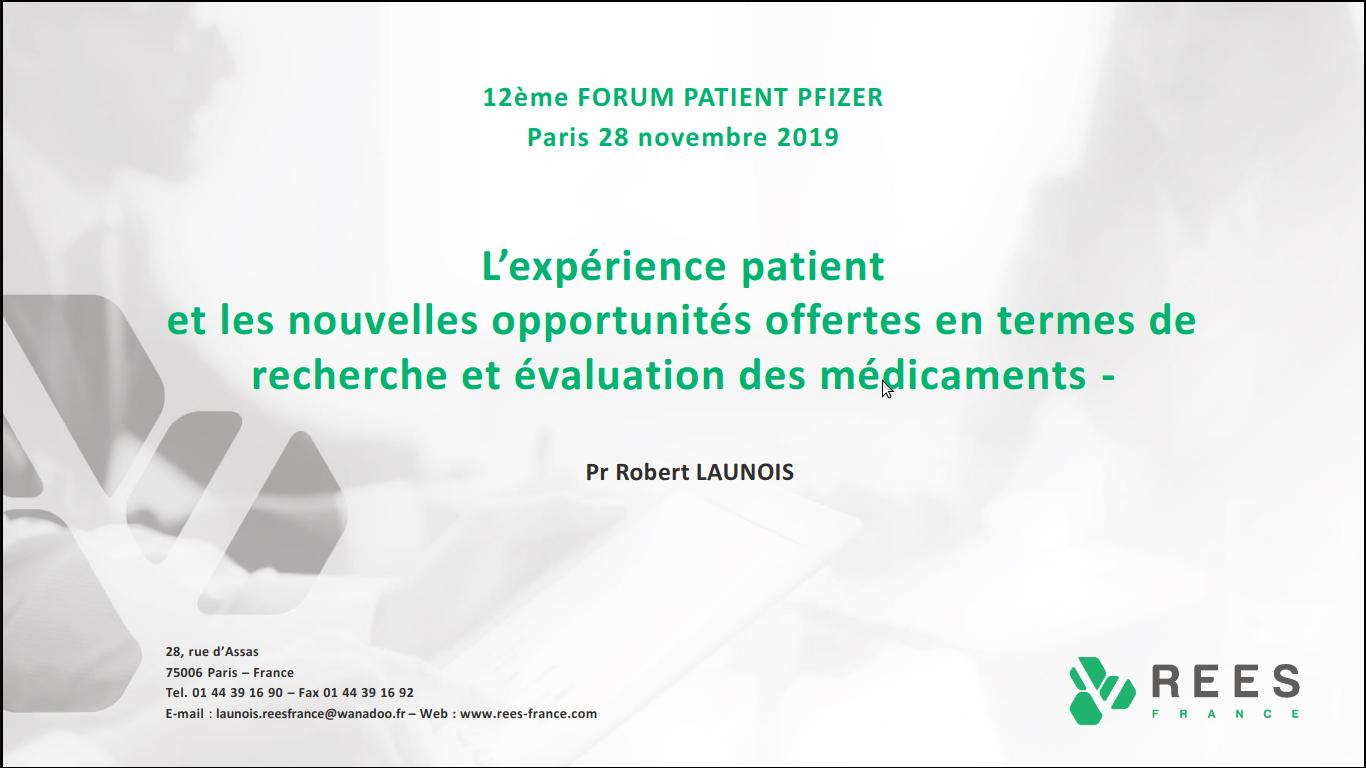 12ème Forum Patient Pfizer