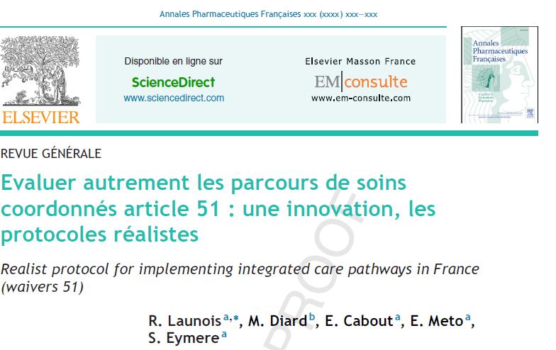 Une nouvelle publication : Evaluer autrement les parcours de soins coordonnés article 51 : une innovation, les protocoles réalistes